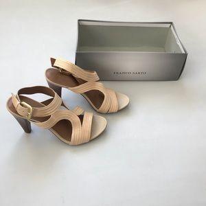 Franco Sarto Sandal Heels sz7M Adonis color cream